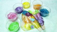 How To Make Pearl Colors Jelly Slime Clay DIY Rainbow ice cream pop Slim...