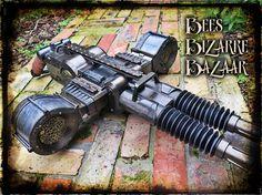 Steampunk Nerf Gun Machine Gun Rhino Fire Cosplay by BeesBizarreBazaar | Etsy