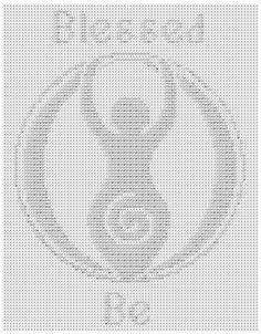 """""""Blessed Be"""" Goddess Fillet Crochet Pattern"""