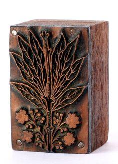 Antique German copper letterpress block.