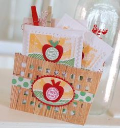 Farm Fresh Notecards in a Berry Basket Pocket by Betsy Veldman for Papertrey Ink (May 2012)