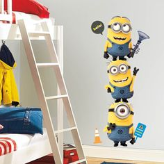 Bring the unpredictably hilarious Minions into any room! Check out our brand new Despicable Me 2 wall decals. ^nk
