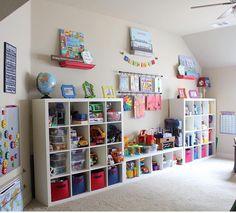 Playroom organization kids в 2019 г. playroom, kids room и p Playroom Design, Office Playroom, Playroom Decor, Playroom Ideas, Playroom Curtains, Kids Bedroom Organization, Toy Organization, Organizing, Ideas Dormitorios