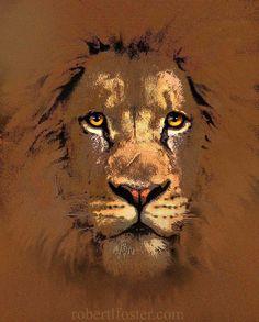lion  lion art  print  SCAR FACE  narnia judah aslan by lewfoster, $15.00
