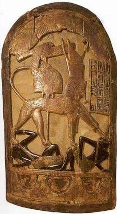 King Tutankhamun Exhibit-The only item of true body armor recovered from the tomb was a close-fitting leather cuirass, found in a crumpled up state in box 587 in the Annex. It is described by Carter as 'made up of scales of thick tinted leather worked onto a linen basis, or lining, in the form of a ...bodice without sleeves'.