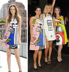 Roy Lichenstein dresses by Lisa Perry. #art #style #cute #model
