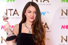 Lacey Turner in the press room with the Best Serial Drama Performance Award for her role as Stacey Slater in Eastenders at the National Television Awards 2017, held at The O2 Arena, London. PRESS ASSOCIATION Photo. Picture date: 25th January, 2017. See PA Story SHOWBIZ NTAs. Photo credit should read: Ian West/PA Wire via @AOL_Lifestyle