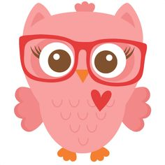 Nerdy Girl Owl scrapbook cuts SVG cutting files doodle cut files for scrapbooking clip art clipart doodle cut files for cricut free svg cuts