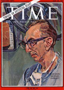 Dr. Michael E. DeBakey featured on the cover of Time magazine. Image courtesy of Baylor University College of Medicine.