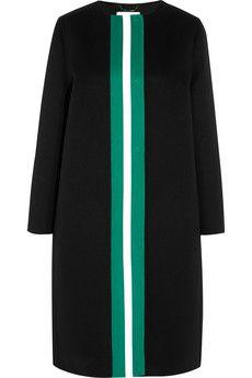 Fendi Striped wool-fleece coat | NET-A-PORTER