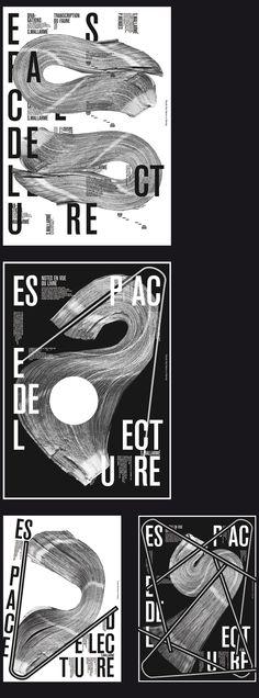 LES LIVRES DE MALLARMÉ Série d'affiches Mars 2015  Série sur l'espace de lecture du livre et de l'affiche.