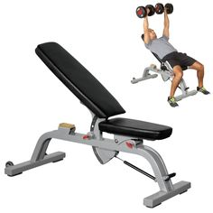Hydraulic piston assist allows for quick and easy adjustments. Full Body Training, Workout Rooms, At Home Gym, No Equipment Workout, Bench, Exercise, Sports, Future, Ideas