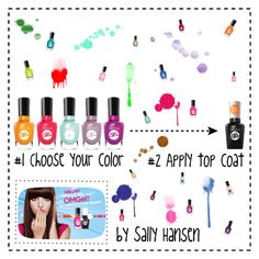 """""""No Light Gel: Nail It in 2 Steps with Sally Hansen® Miracle Gel™: Contest Entry"""" by slam-style on Polyvore featuring bellezza e Sally Hansen"""