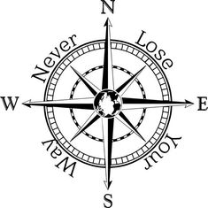 Compass rose decal wall sticker wall art nautical by TheNimsNook compass tattoo