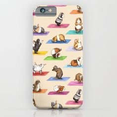 6$ Off + Free Shipping Today! Cute The Yoguineas Collection - Namast-hay! iPhone & iPod Case by When Guinea Pigs Fly   Society6