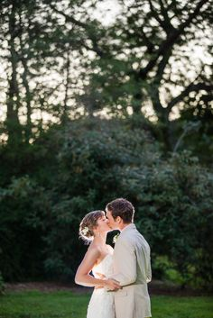 Romantic evening portrait of bride and groom | Tyler Arboretum Wedding by Ashley Gerrity Photography