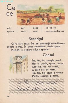 Abecedar 1959 – Un zâmbet de copil… Vintage School, Kindergarten Activities, Kids Education, Book Illustration, Nostalgia, Books, Aur, Bebe, Geography