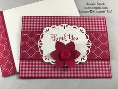 A Fun Fold Farewell to the Retiring In Colors | Just Stampin' Handmade Thank You Cards, Fun Fold Cards, Flowers Perennials, Card Tutorials, Card Kit, Color Card, Stampin Up Cards, Bold Colors, Favorite Color
