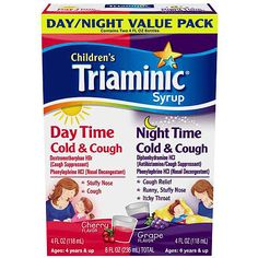 Buy Now Triaminic Childrens Day/Night Cold and Cough Syrup Combo Pack - 8 oz. Relief of cough and runny, stuffy nose | myotcstore.com - Ezy Shopping, Low Prices & Fast Shipping.