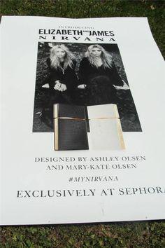 Elizabeth & James Nirvana Fragrance  Advertising Store Banner Poster Olsen Twins