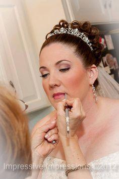 Gorgeous Keri on her wedding day. Makeup by Irina: www.image-and-beauty.com. Photo by www.impressivephoto.com