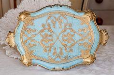 Vintage Italian Florentine Tray