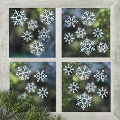 Let it Snow this Christmas with our fabulous range of Rustic Christmas Decorations with Worldwide Shipping Use these crisp white Snowflake Window Stickers to sprinkle some festive cheer across your home! Christmas Window Stickers, Wall Stickers Window, Christmas Decorations For The Home, Christmas Room, Christmas Snowflakes, Rustic Christmas, Christmas Lights, Decoration Vitrine, Holiday Gift Tags