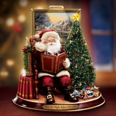 Thomas Kinkade Twas the Night Before Christmas Santa Figurine at Ocean Treasures