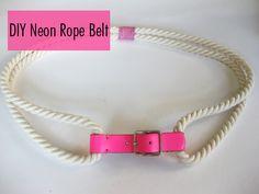 DIY Neon Rope Belt
