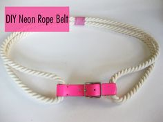 Rope Belt DIY