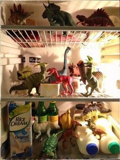 Eats Amazing -#dinovember day 14 - the dinosaurs have a party in the fridge to celebrate the end of Dinovember:
