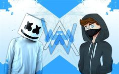 Download wallpapers Marshmello, Alan Walker, DJs, art, DJ, superstars, DJ Marshmello
