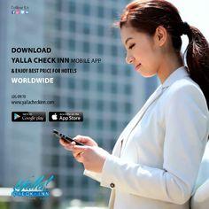 ✔️ #Download YALLA CHECKINN #App & Enjoy Best  #Price 💲 for #HOTELS #Worldwide  📣  www.yallacheckinn.com