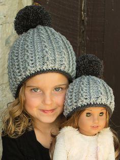 Silvertree Cabled Beanie Crochet Pattern. Hat CrochetCrochet HooksKnitted HatsCrochet  BabyAg Doll ClothesChild DollCollector DollsAg DollsCrochet For Kids 36b442608b2e