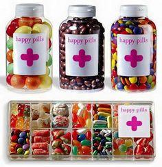 Detalle píldoras de felicidad