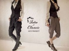 Fewer front pleats, fairisle or tweed vest, striped socks or lace boot socks. Other than changing all that - not bad :P Lolita Fashion, Boy Fashion, Fashion Outfits, Mode Style Anglais, Lolita Mode, Pin Up, Mode Costume, Androgynous Fashion, Mode Vintage