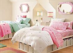 Fotos de Dormitorios Juveniles para dos Chicas en Varios Colores