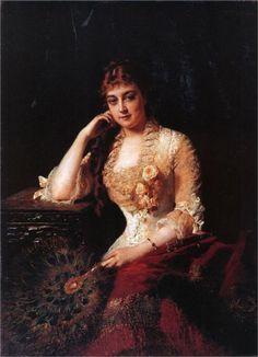 Female Portrait by Konstantin Makovsky,1880