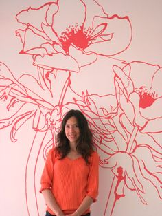 Penelope Rolland and her wall decal