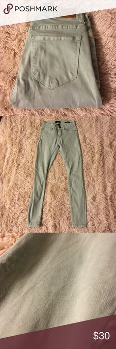 BDG skinny jeans BDG mid rise twig ankle jeans. It is hard to tell the color of these but they are like a minty light blue color. Love these and they fit great, but I never wear them Urban Outfitters Jeans Skinny