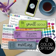 Use these stickers to stay organized and jazz up your planner or calendar. Perfect for School Counselors, SLPs, OTs, PTs, Special Education Teachers, Teachers, etc. Choose from 3 color options. Kiwi Speech #slpeeps #specialeducation #plannerorganizer #slptools  #plannerstickers #plannerprintables #slptools #slpsonetsy #estyshop #slpplanner #speechtherapy