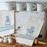 Need help in your holiday kitchen? Stitch this pair of happy snowman chefs - they promise to help with the dishes! ⛄ Find the pattern in the book Snow Happy by Robin Kingsley, available now. #robinkingsley #snowhappy #snowman #christmasembroidery #embroidery #bluework