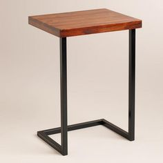 our house needs... tray table for corner of couch / Alameda Laptop Table, World Market $70