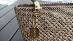 Lulla mini crochet tote | LIVLOLA Crochet Tote, Yarn Colors, Handbag Accessories, Great Gifts, Pearls, Mini, Pattern, Gold, Handmade