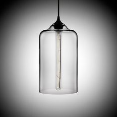 Mr Ralph - Coloured Glass Pendant - Clear, Coffee and Metallic Grey Glass - Style E, Pendants