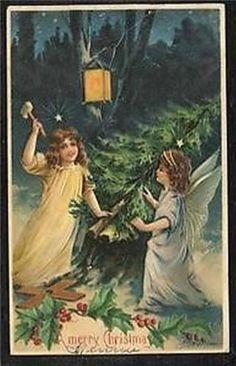 Beautiful Angels Antique Embossed German Christmas Postcard FF497   eBay