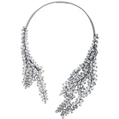 Bcbgmaxazria Asymmetric Stone Collar Necklace (165 AUD) ❤ liked on Polyvore featuring jewelry, necklaces, silver and bcbgmaxazria