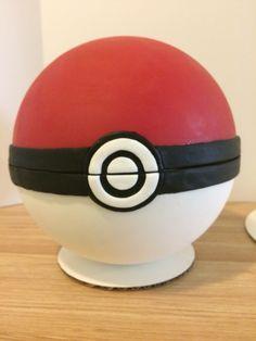 Chocolate Poke Ball cake with Pokemon inside.