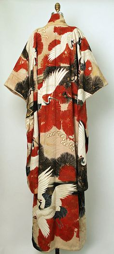 Furisode kimono, 1850-1950, Japan Would LOVE to see this print on a quarter sleeve body con dress or something