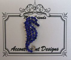 Accoutrement Designs Blue Seahorse Needle Minder Magnet Mag Friends #AccoutrementDesigns